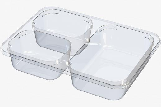 3 cavity snack tray