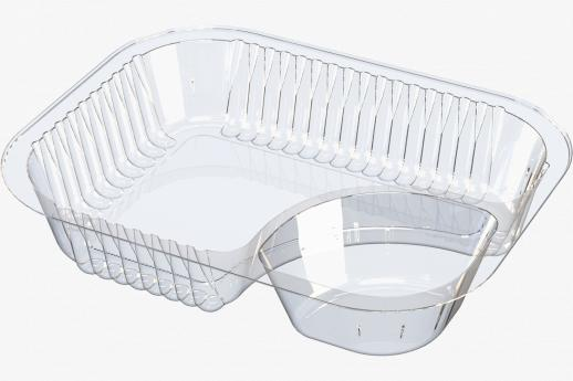 Nacho Tray With Corner Compartment