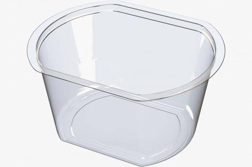 Flat sided snack pot
