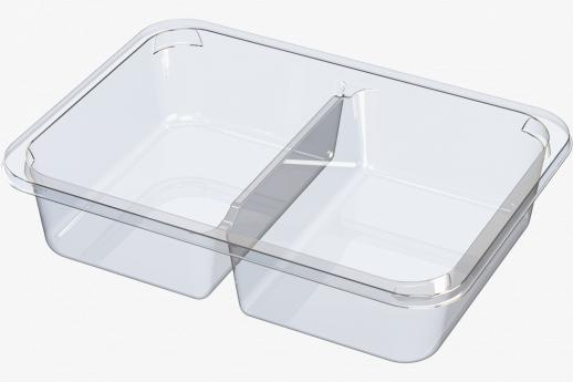 2 cavity snack tray