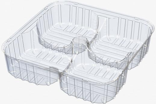 4 Compartment Tray - Flow Wrap