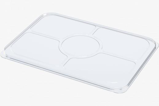 Large 5 cavity fruit platter lid