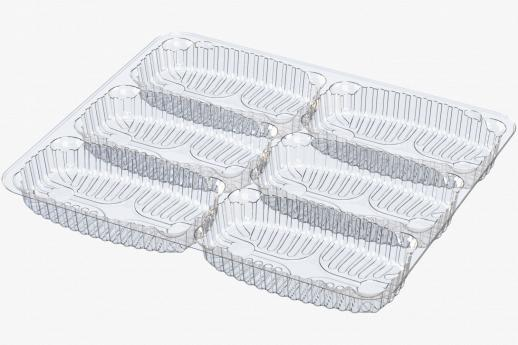 6 Compartment Tray - Flow Wrap