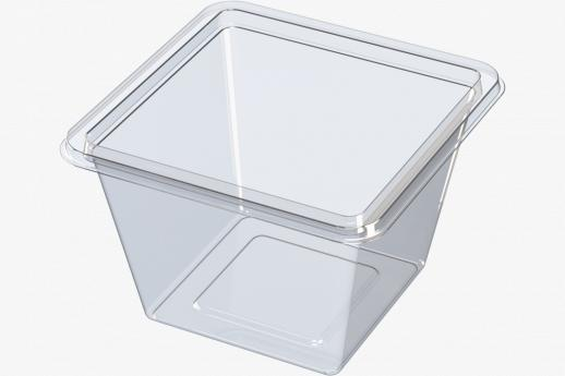 Square snack tubs