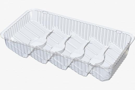 5 Compartment Shingled Flow Wrap Tray