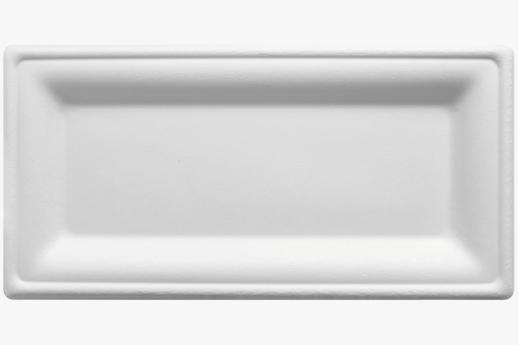 Rectangular Sugarcane Plate 255x127mm