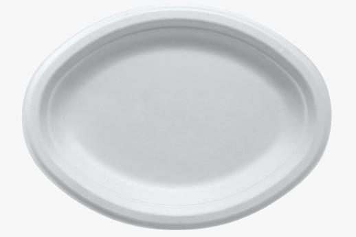 Sugarcane Plate Oval 254x190mm