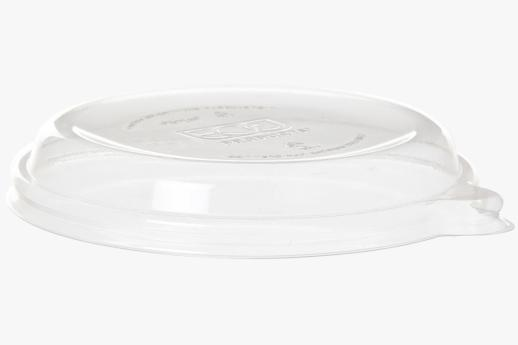 PLA Flat Lid, Fits 355-470ml (12-16oz) Coupe Bowls