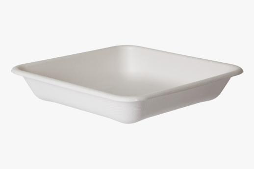 Sugarcane TakeOut Container Square 200mm