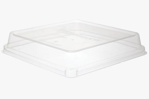 PLA Lid, fits 230mm Sugarcane Square TakeOut Container.